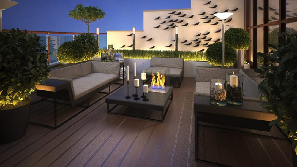 Aménagement mobilier outdoor par Hedoni.